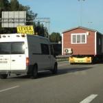 Talovaunu kuljetus 38m2 talovaunu Helsingissä