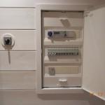 Sähkökaappi, 3x16A tai enemmän jos lattialämmitys koko talovaunu