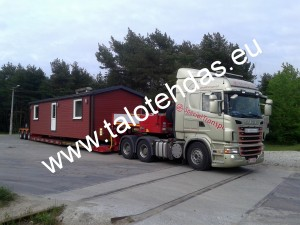 Talovaunu 45m2, takana, 12m pitkä ja 3,8m leveä, Viron tehdas, talotehdas, mobile homes, estonia