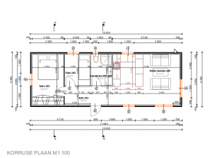 Talovaunu 52,8m2 pohjapiirros