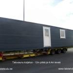 Talovaunu kuljetus Virosta Suomeen, kesä 2014, talotehdas, ratastelkodu, talovaunu virosta, mökki