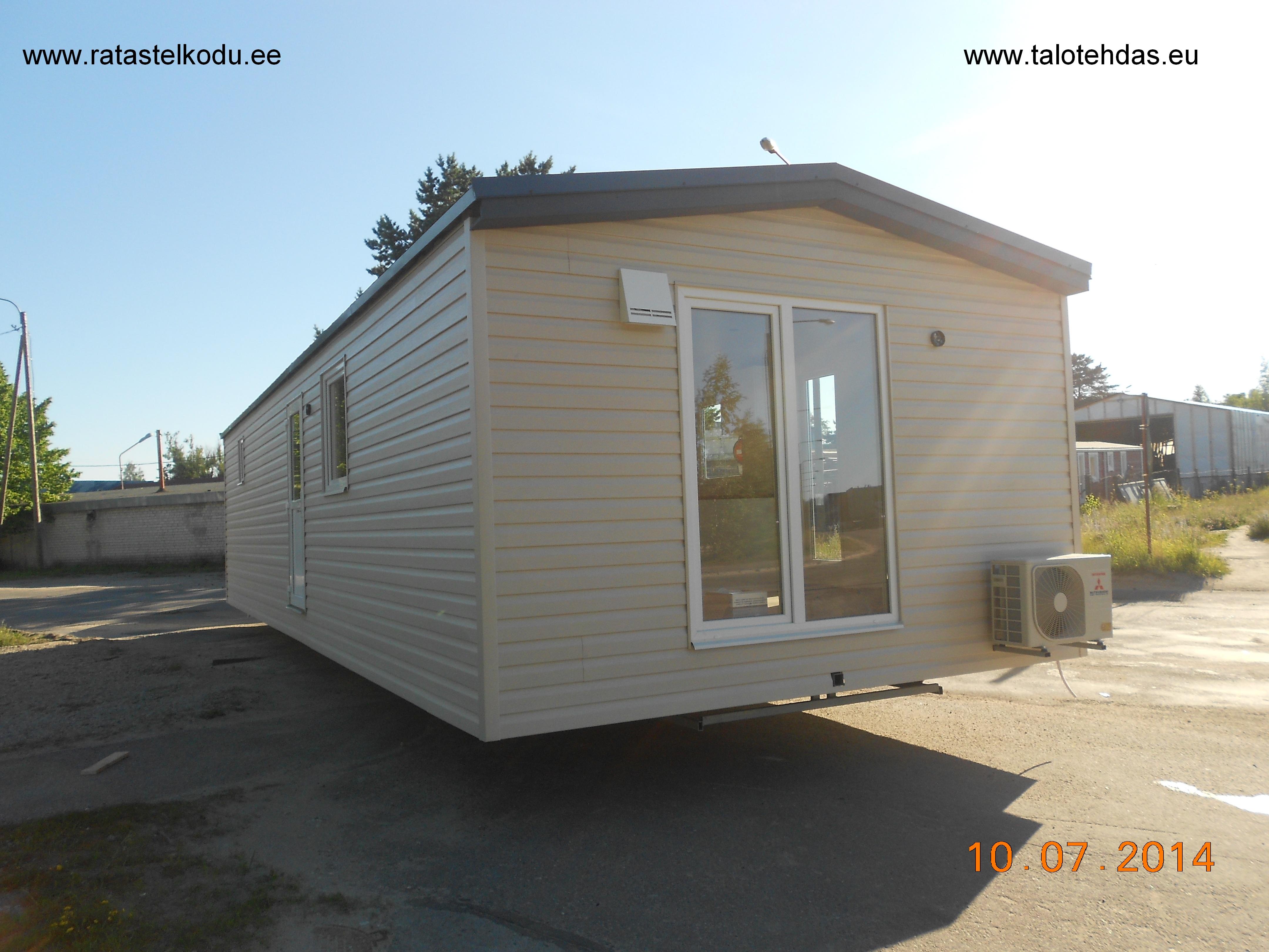 Husvogner, mobile homes, facade plastic, length 12m, width 4,3m, height from ground 3,5m