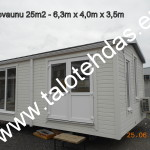Talovaunu, talovaunut, talovaunu Virosta, talotehdas, ratastelkodu, työmaakoppi, toimisto, pyörillä talo, 25m2 talovaunu, Siirrettävä mökki