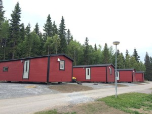 Our 4 mobile homes in Sweden, summer 2015