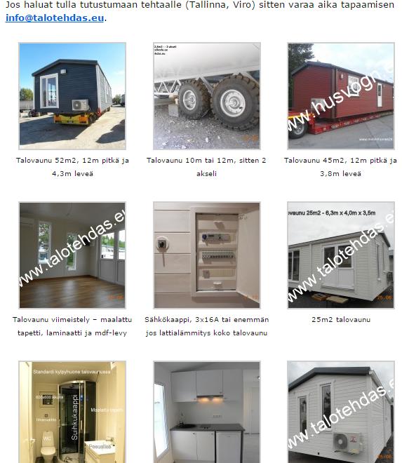 Talotehdas promo pildid, mobile homes, etusivu, ota yhteyttä, talovaunu, talovaunut