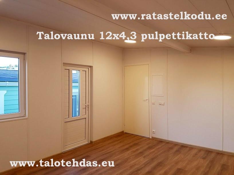 Talovaunu pulpettikatto 12x4,3, Kesäkuussa Virossa, toimituspaikka Lappajärvi Suomi