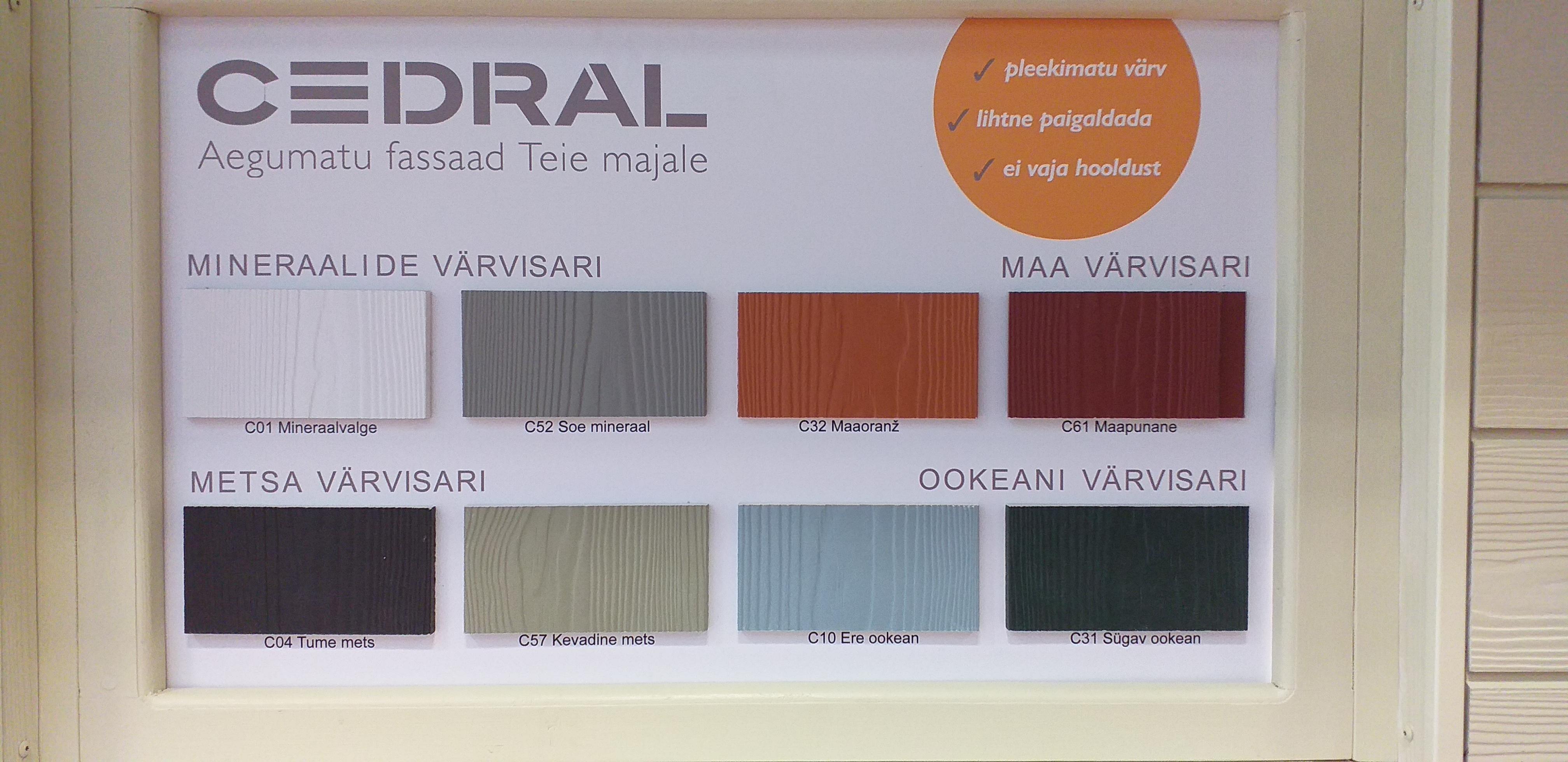 Julkisivu viimeistely verhous CEDRAL on valmistettu puusta ja se on kuitusementtilevy