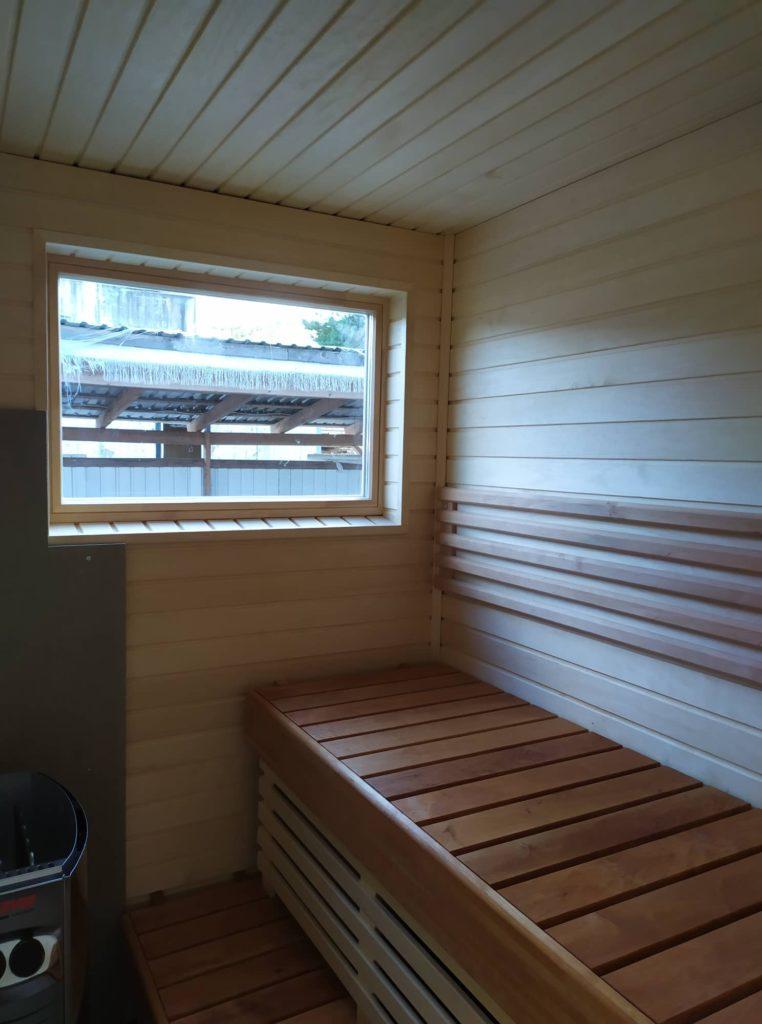 Talovaunu sauna talotehdas, ratastelkodu 25082019 kesä kuljetus Suomeen