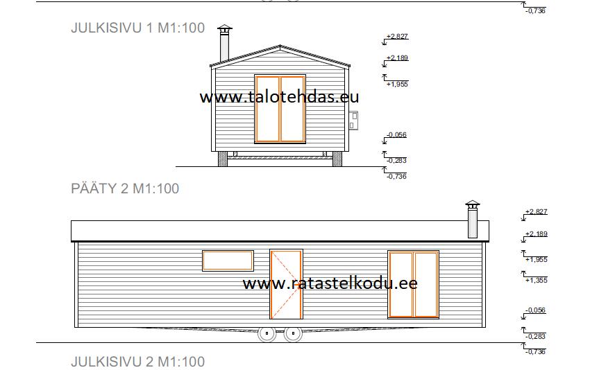 Ratastelkodu ja talotehdas joonis 12x4,4 talovaunu pildid