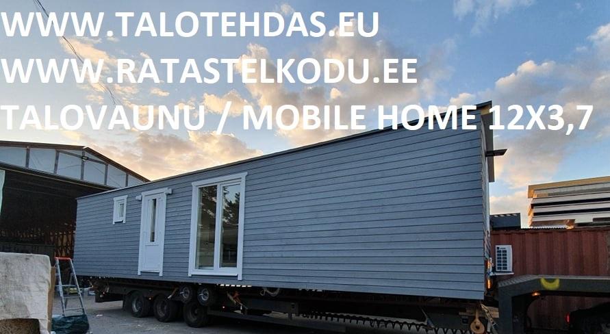 Talovaunu 12x3,7, mobile homes, villavagn, husvogn, mobile home