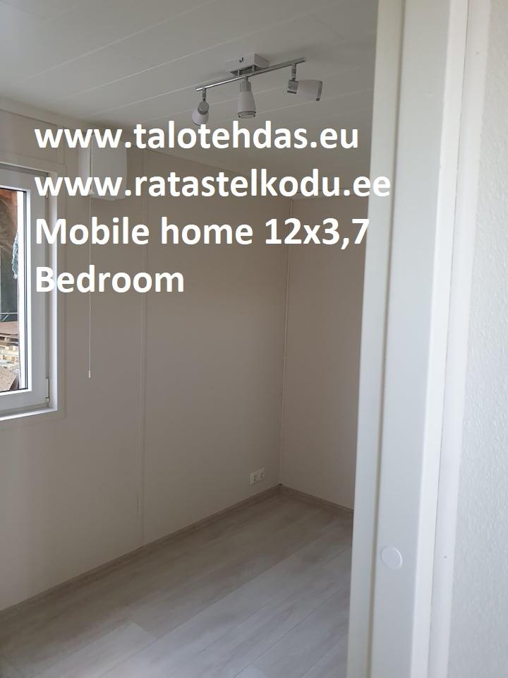 Talovaunu 12x3,7 makuuhuone