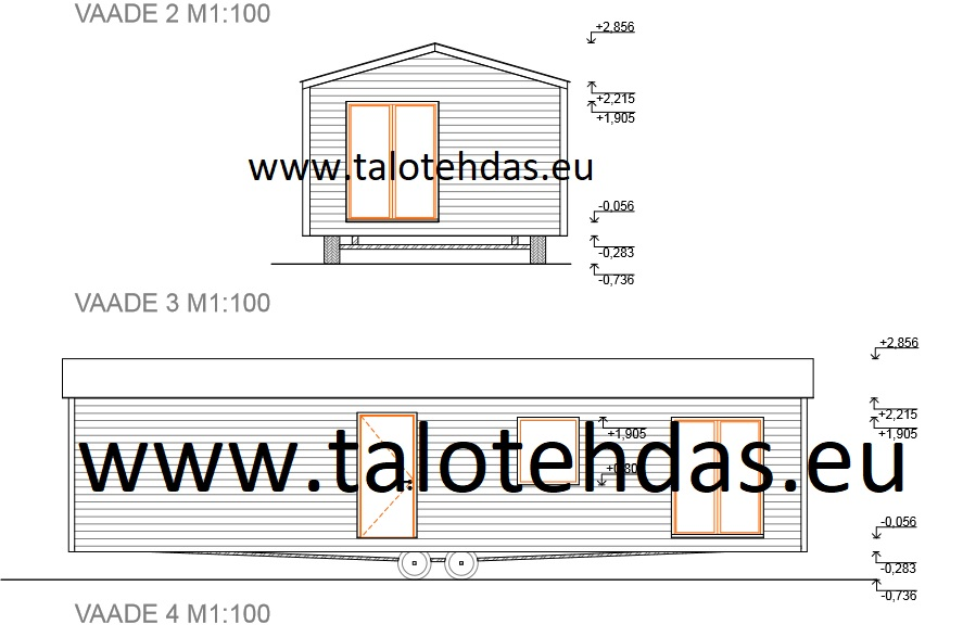 Talovaunu piirustus