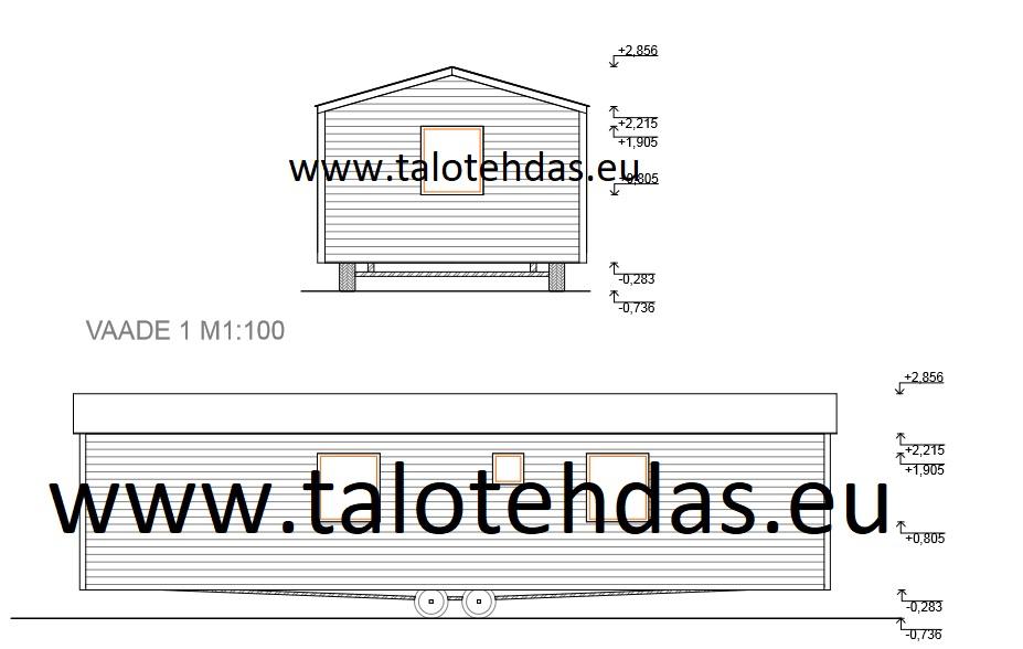 Talovaunu pirustus Tallinnassa tehdas, talopaketti