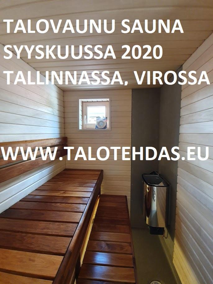 Sauna talovaunu talotehdas, talovaunu myynti, talovaunu hinta, talopaketti virosta, talovaunu virosta