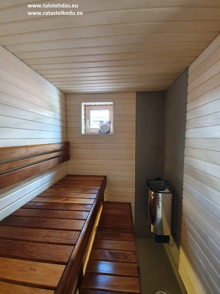 Talovaunu sauna, ratastel maja , saun, ratastel majad