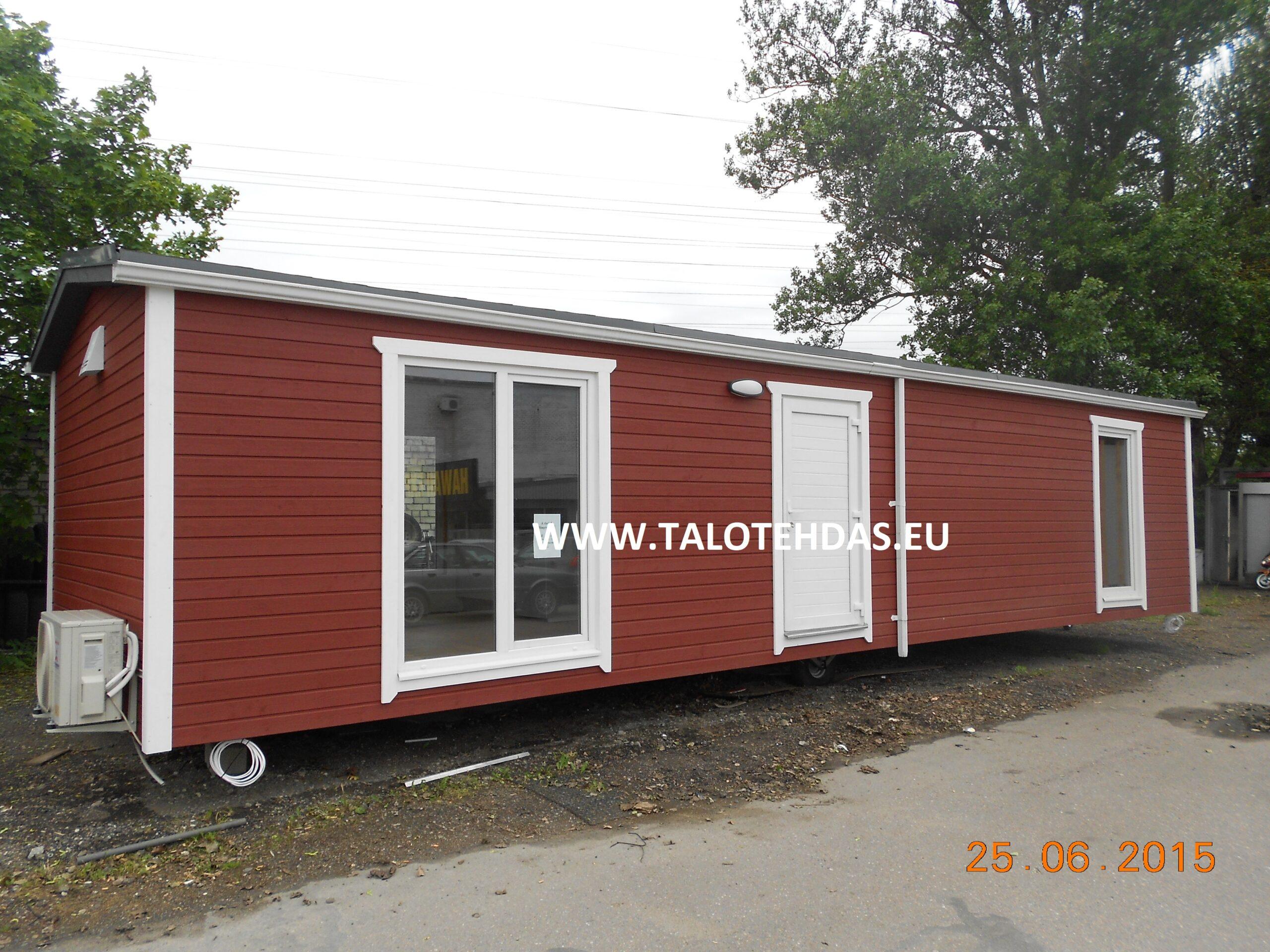 Talotehdas, talovaunu virosta, talovaunu, Myydään talovaunu, siirrettävä talo, muuttovalmis, mökki pyörillä